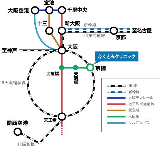 新幹線・電車でご来院の方
